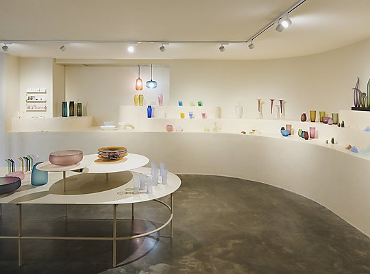 Interior photograph of Canberra Glassworks by Pew Pew Studio