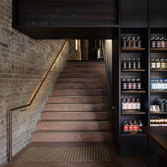 Interior photograph of Four Pillars Laboratory - Gin Shop by Anson Smart