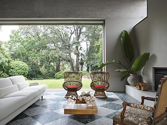 Interior photograph of Garden House by Anson Smart