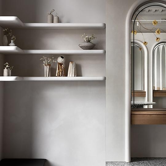 Interior photograph of Joey Scandizzo Salon by Timothy Kaye