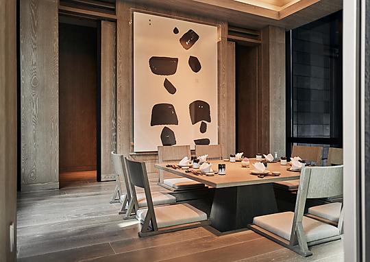 Interior photograph of Park Hyatt Niseko Hanazono by Peter Bennetts