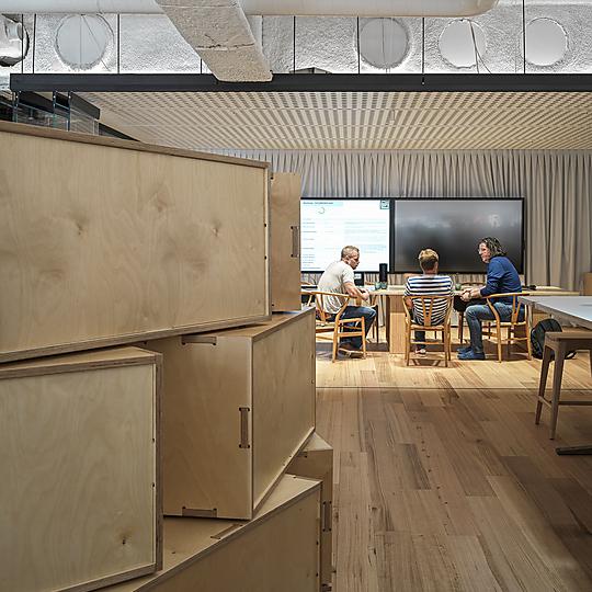 Interior photograph of F+P Studio by Mark Syke