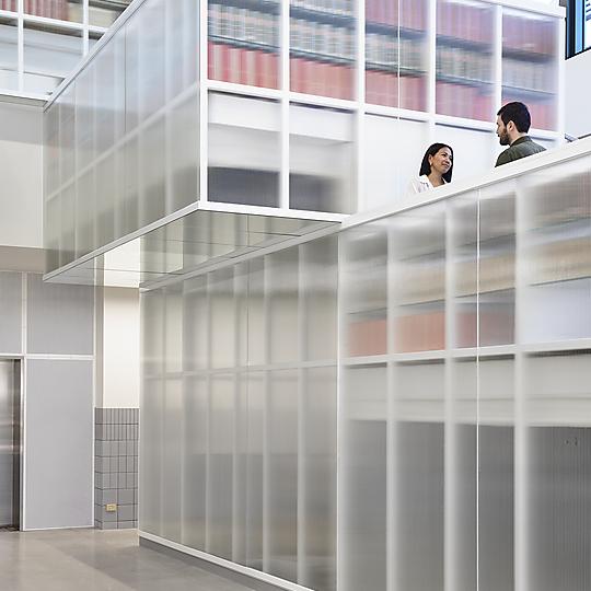 Interior photograph of La Trobe University Library Bendigo by Derek Swalwell