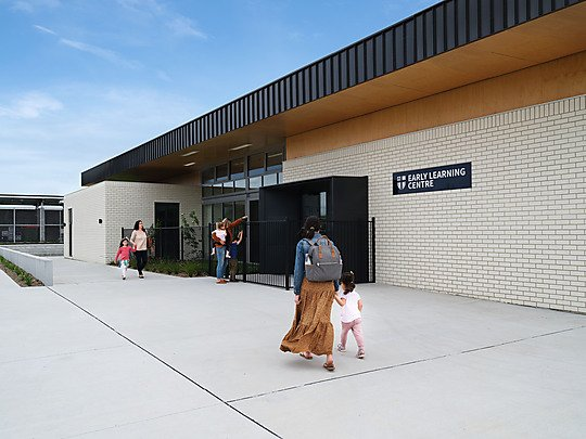 Interior photograph of Burgmann Anglican School - Early Learning Centre by Anne Stroud
