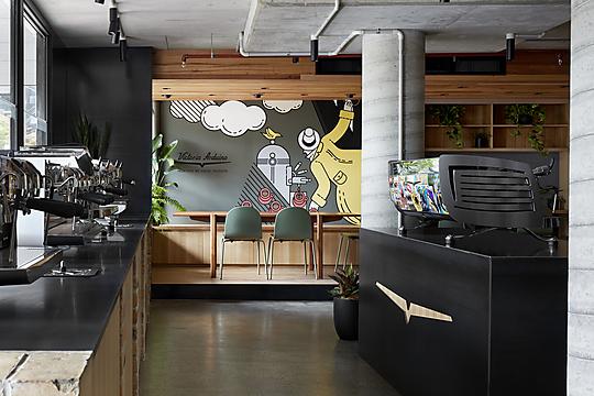 Interior photograph of Victoria Arduino Experience Lab by Tatjana Plitt