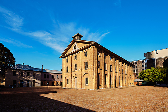 Interior photograph of Hyde Park Barracks Visitor Experience by James Horan Photography PTY LTD